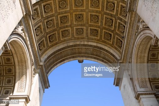 Low angle view of an archway, Paris, France : Foto de stock