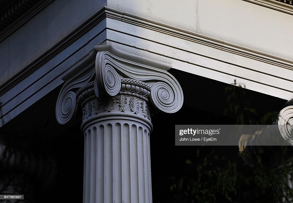 Low Angle View Of Architectural Column Stock Photo Getty