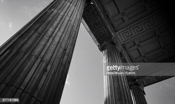 Low Angle View Of Architectural Columns At General Post Office