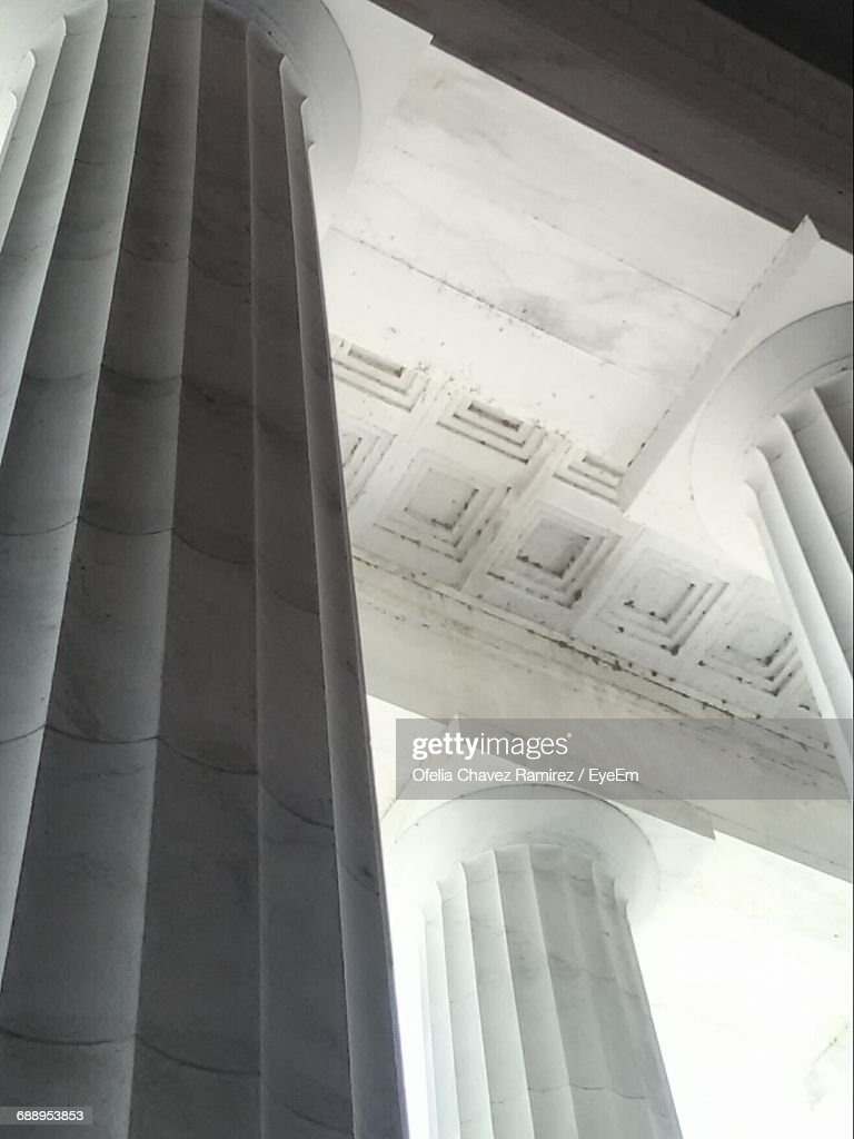 Low Angle View Of Architectural Columns At Lincoln
