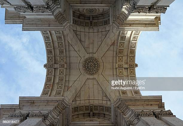 Low Angle View Of Arco Da Victoria Against Sky