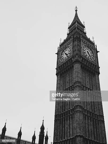 Low Angle View Of Big Ben Against Clear Sky