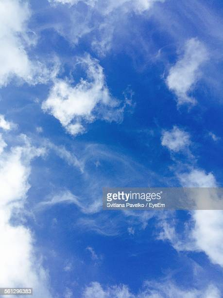 Low Angle View Of Blue Sky And Clouds