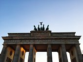 Low Angle View Of Brandenburg Gate Against Clear Sky
