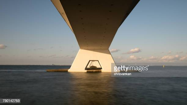 Low angle view of bridge, Kats, Zeeland, Holland