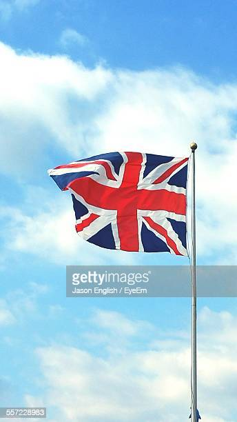 Low Angle View Of British Flag Against Sky