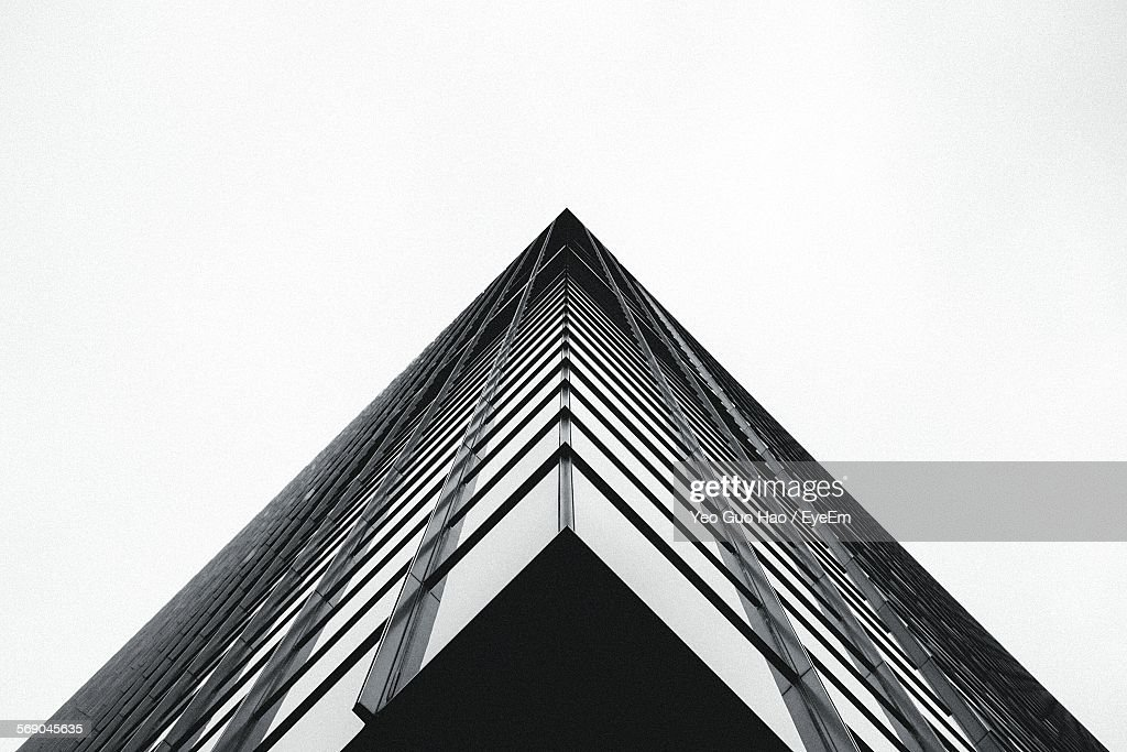 Low Angle View Of Building Against Clear Sky