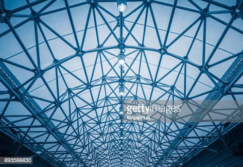 Low angle view of building ceiling : Stock Photo