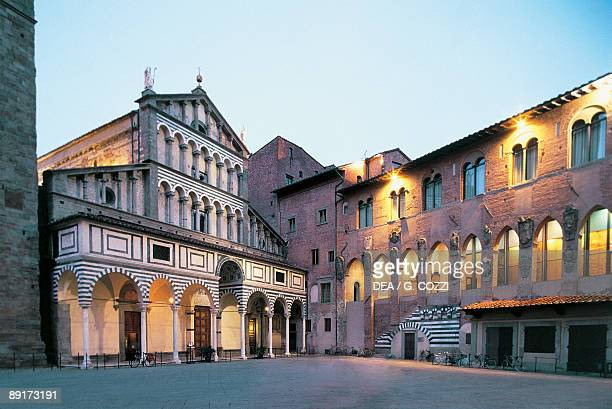 Low angle view of buildings Bishop's Palace Pistoia Tuscany Italy