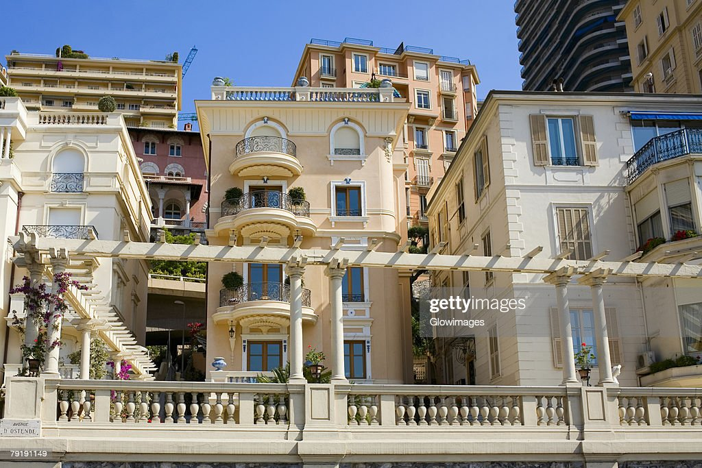 Low angle view of buildings, Monte Carlo, Monaco : Foto de stock