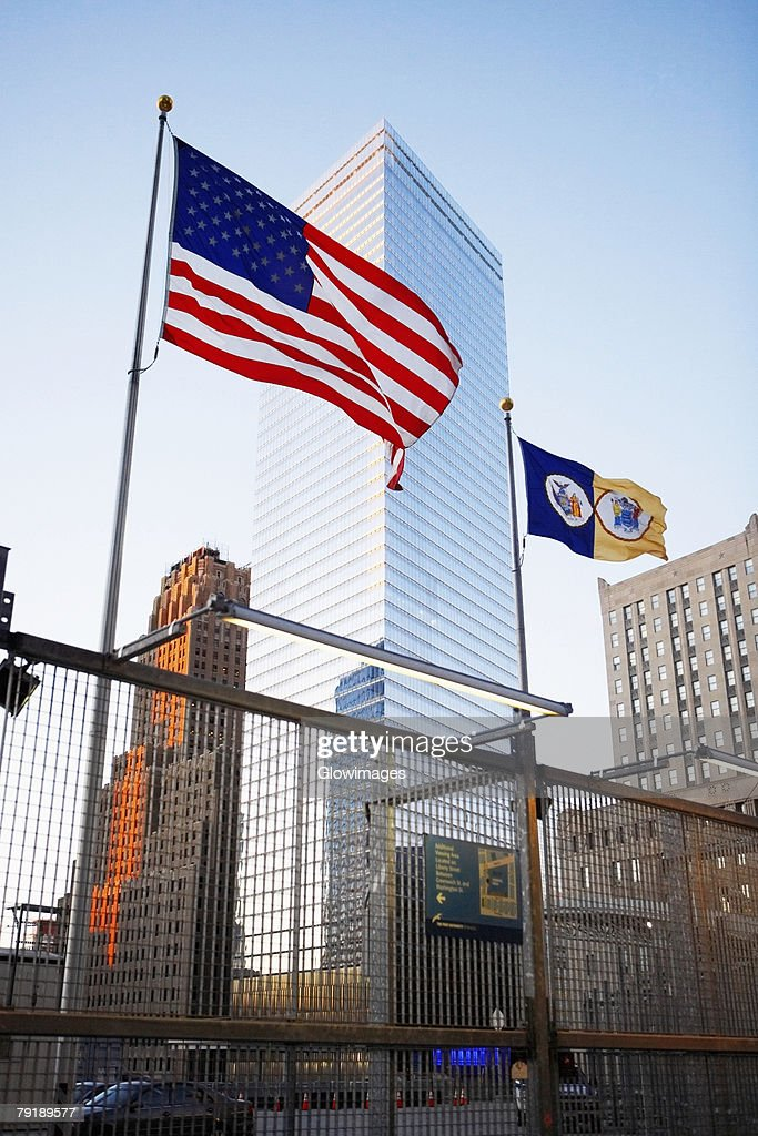 Low angle view of buildings, World Trade Center, Manhattan, New York City, New York State, USA : Foto de stock