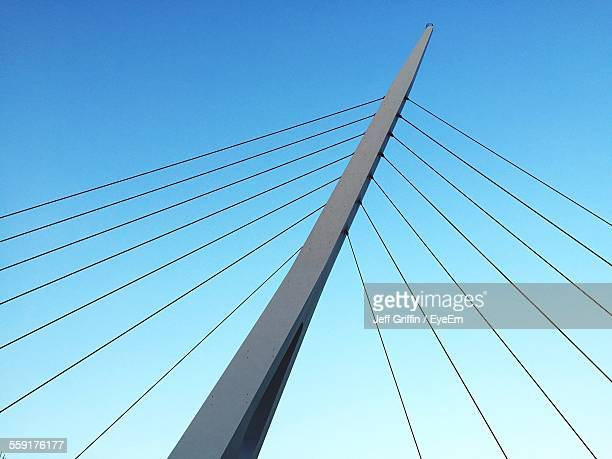 Low Angle View Of Cable Stayed Bridge