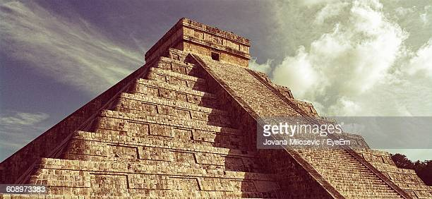 Low Angle View Of Chichen Itza Against Sky