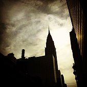 Low Angle View Of Chrysler Building Against Cloudy Sky