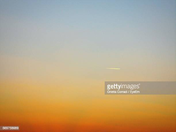Low Angle View Of Clear Sky During Sunset