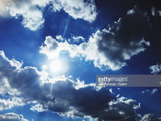 Low Angle View Of Clouds In Bright Sky