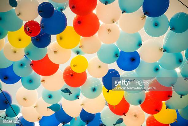 Low Angle View Of Colorful Balloons