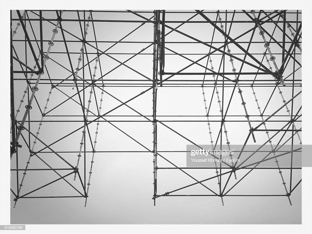 Low angle view of construction frame