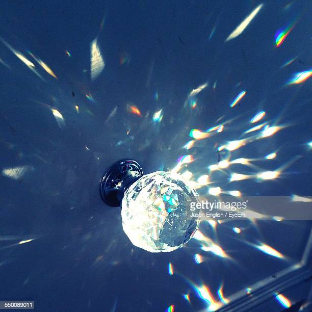 Low Angle View Of Disco Ball In Night Club