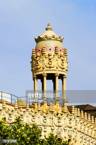 Low angle view of dome of a building, Barcelona, Spain : Foto de stock