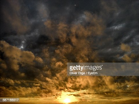 Low Angle View Of Dramatic Sunset Sky