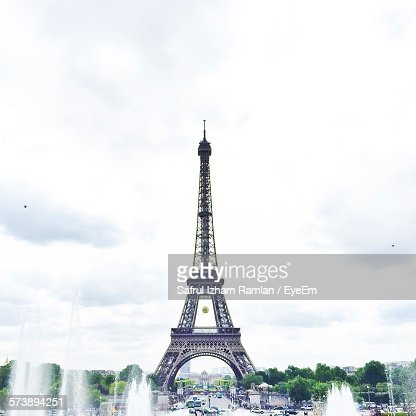 Low Angle View Of Eiffel Tower Against The Sky