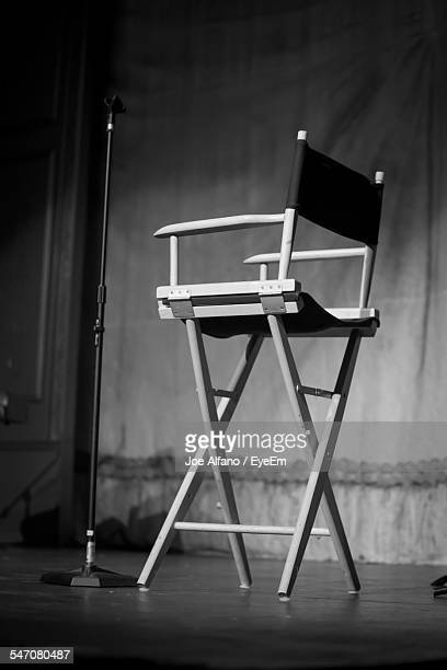 Low Angle View Of Empty Chair On Stage At Ritz Theater