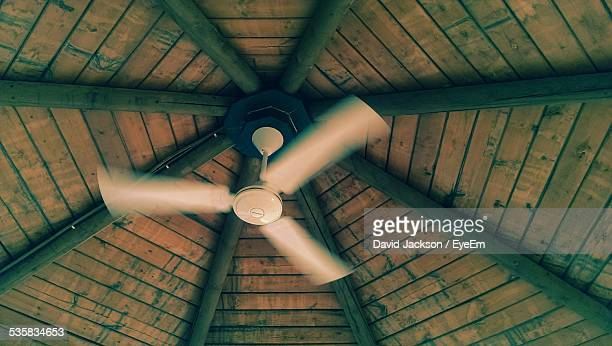 Low Angle View Of Fan On Ceiling