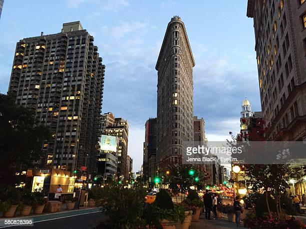 Low Angle View Of Flatiron Building In City Against Sky