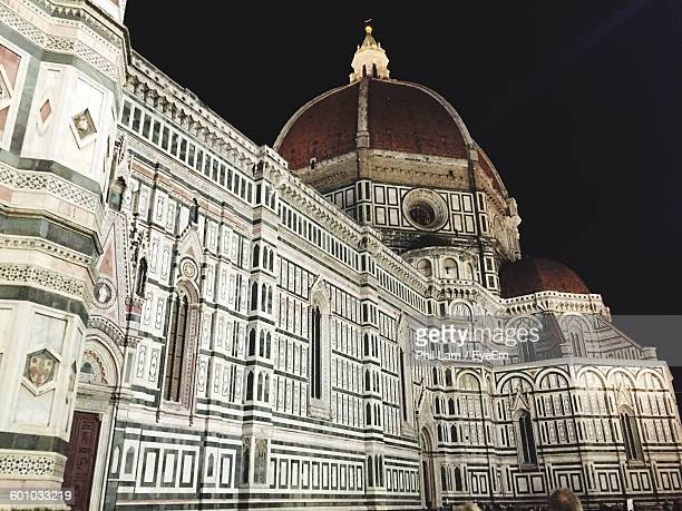 Low Angle View Of Florence Cathedral Against Sky At Night