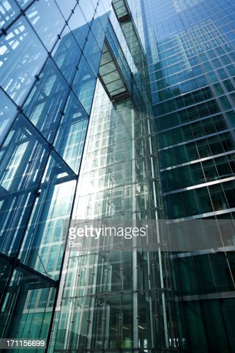 Low Angle View of Futuristic Business Buildings