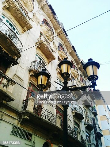 Low Angle View Of Gas Light Against Building