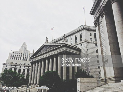 Low angle view of government building