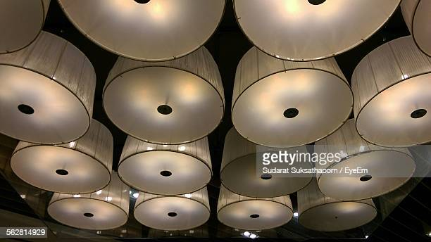 Low Angle View Of Hanging Lights At Ceiling