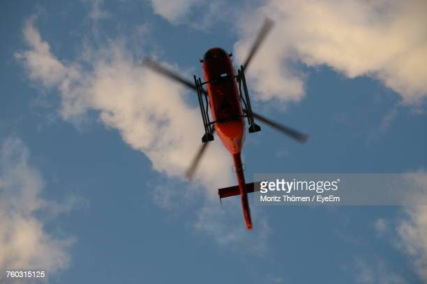 Low Angle View Of Helicopter