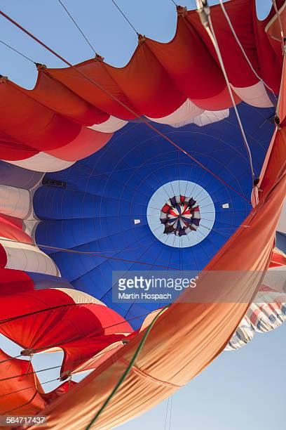 Low angle view of hot air balloon against sky