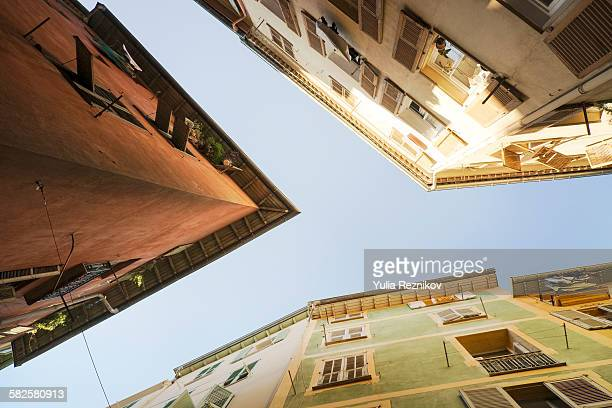 Low angle view of houses in Nice, France