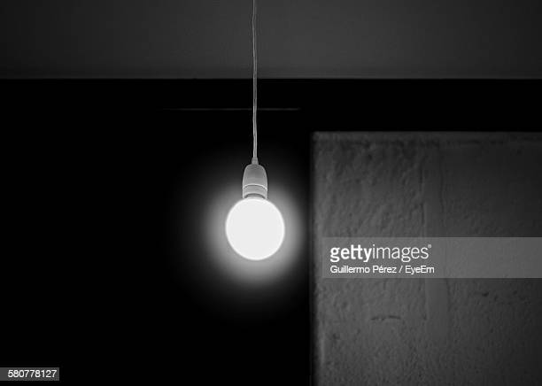 Low Angle View Of Illuminated Bulb