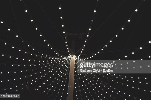 String Lights At Night : Light String Stock Photos and Pictures Getty Images