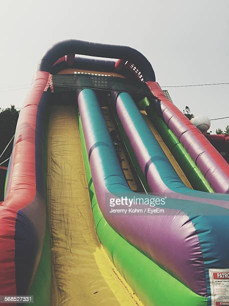 Low Angle View Of Inflatable Slide