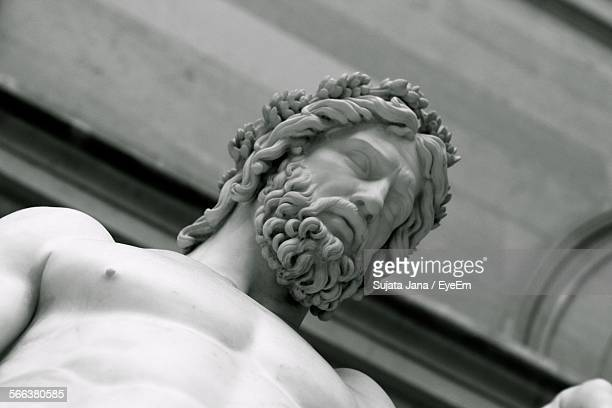 Low Angle View Of Jesus Christ Sculpture