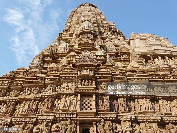 Low Angle View Of Khajuraho Against Sky