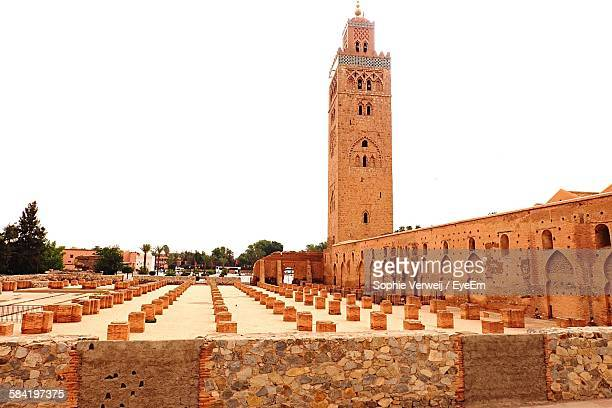 Low Angle View Of Koutoubia Mosque Against Sky