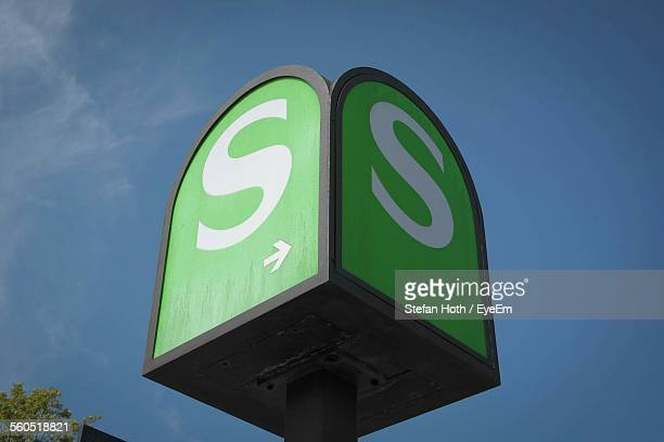 Low Angle View Of Letter S On Sign Board