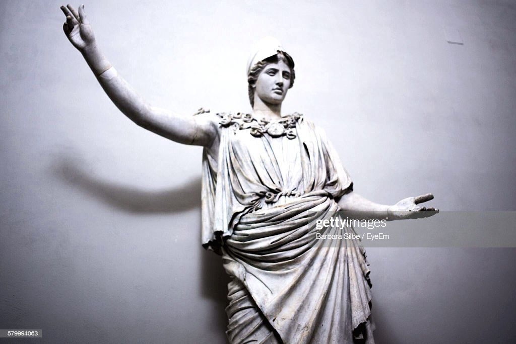 Low Angle View Of Male Statue Against Wall At Brera Academy : Foto stock