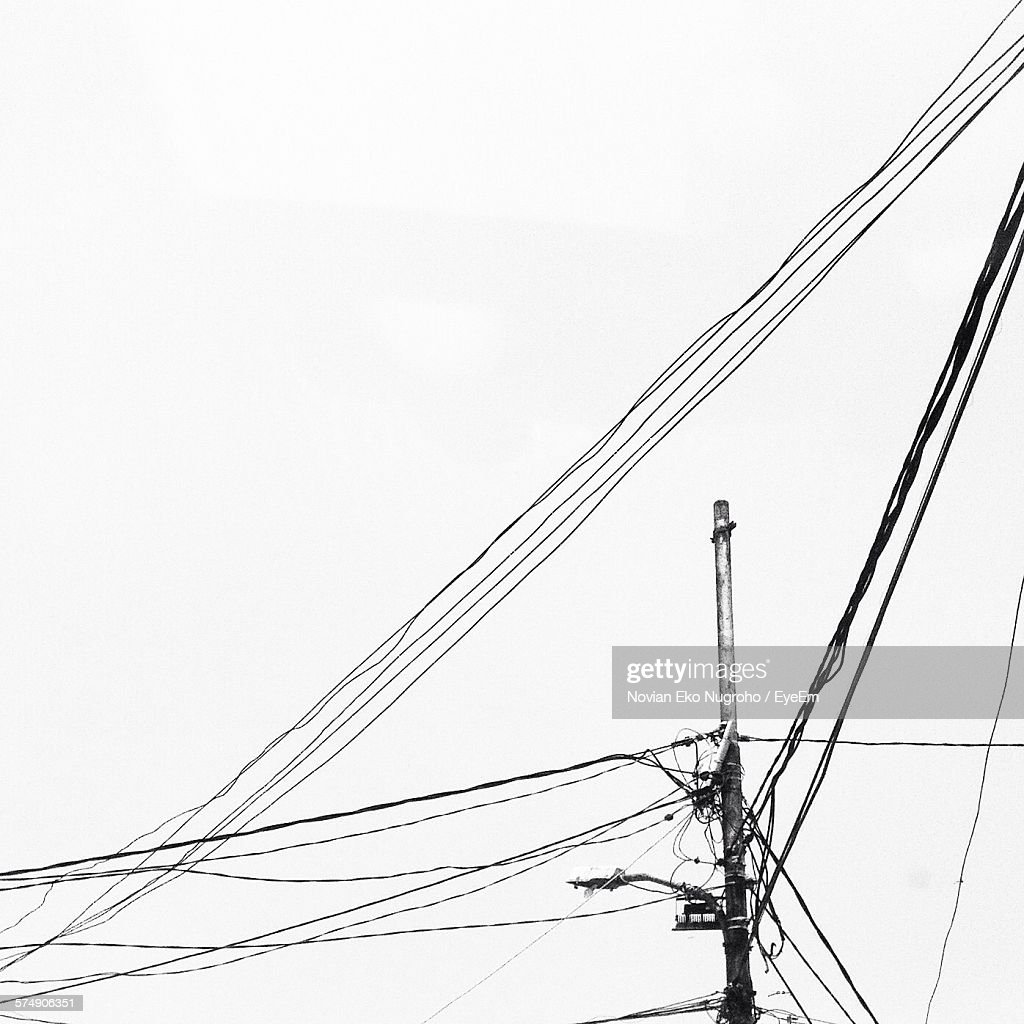 low angle view of messy telephone pole wires against sky picture id574906351?s=612x612 telephone line stock photos and pictures getty images,4 Line Phone Wiring Color Code