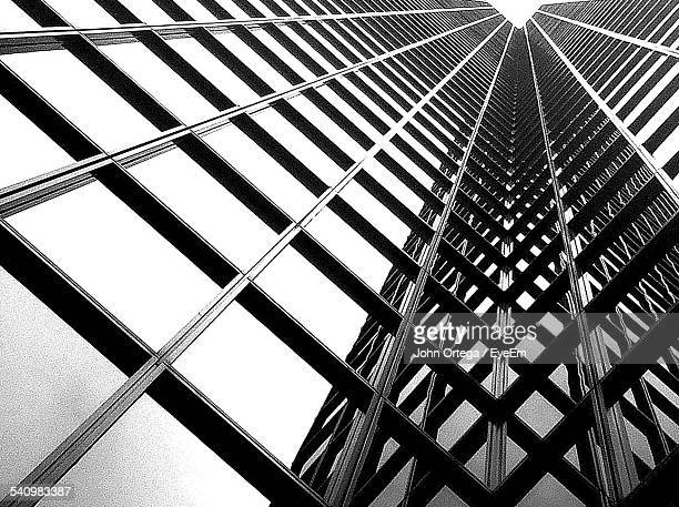 Low Angle View Of Metal Grate Outside Building