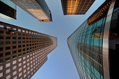 Low angle view of modern office Skyscrapers