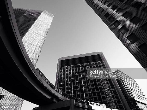 Low Angle View Of Modern Office Buildings Photo: Shinbashi Tokyo Stock Photos And Pictures