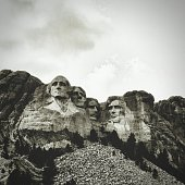 Low Angle View Of Mt Rushmore National Monument Against Sky